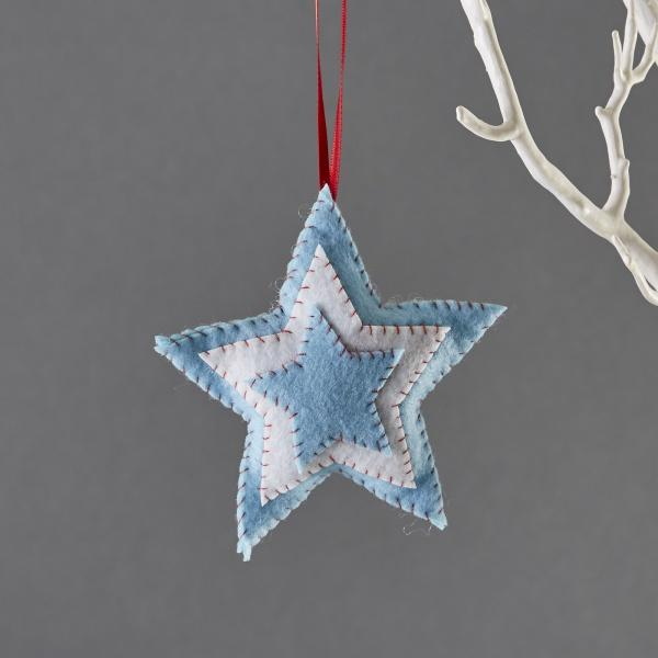 buttonbag mini christmas decoration kit felt star the village haberdashery