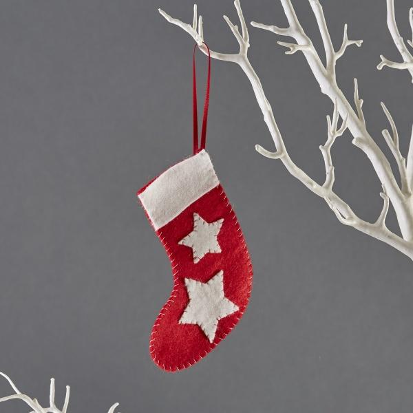 Buttonbag Mini Christmas Decoration Kit - Felt Stocking - The Village Haberdashery