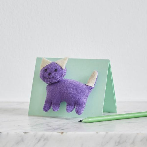 Buttonbag Mini Feltie Friend Kit - Cat - The Village Haberdashery
