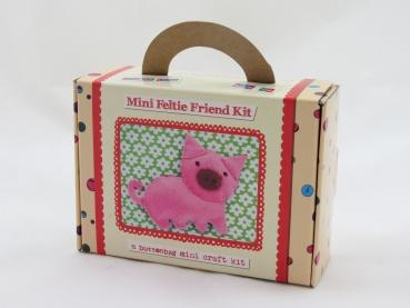Buttonbag Mini Feltie Friend Kit - Piggy - The Village Haberdashery