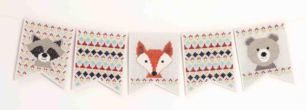 Embroidery Pennant Kit - Animals - The Village Haberdashery