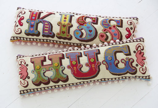 Emily Peacock - Hug and Kiss Bolster Set Size Small - The Village Haberdashery