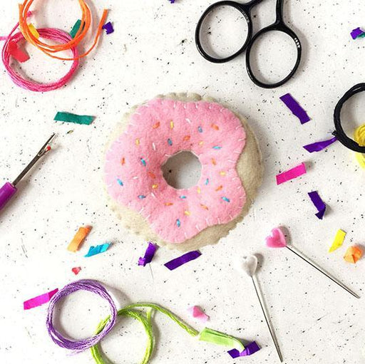 The Make Arcade Felt Sewing Kit - Doughnut - The Village Haberdashery