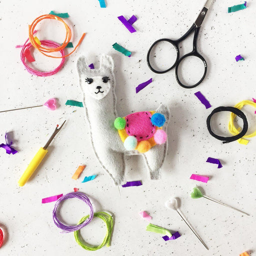 The Make Arcade Felt Sewing Kit - Llama - The Village Haberdashery