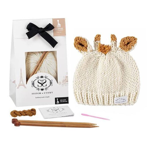 Stitch & Story Sophie La Girafe Knit Kit: Sophie's Hat - The Village Haberdashery