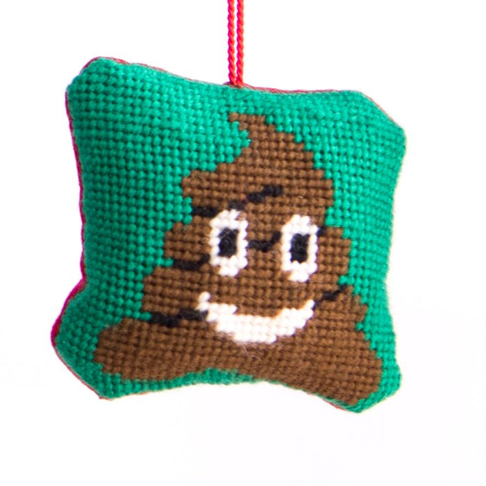 Tapestry Kit - Emoji Poo Lavender Sachet - The Village Haberdashery