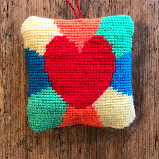 Tapestry Kit - Heart Lavender Sachet - The Village Haberdashery