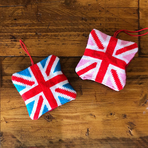 Tapestry Kit - Union Jack Lavender Sachet - Pink - The Village Haberdashery