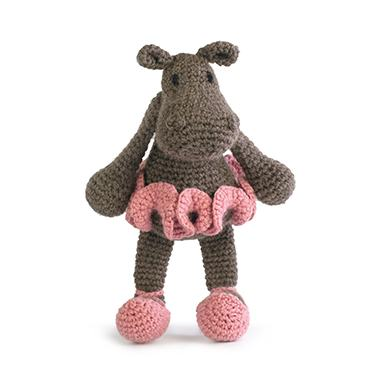 TOFT Crochet Amigurumi Kit: Georgina the Ballerina Hippo - The Village Haberdashery