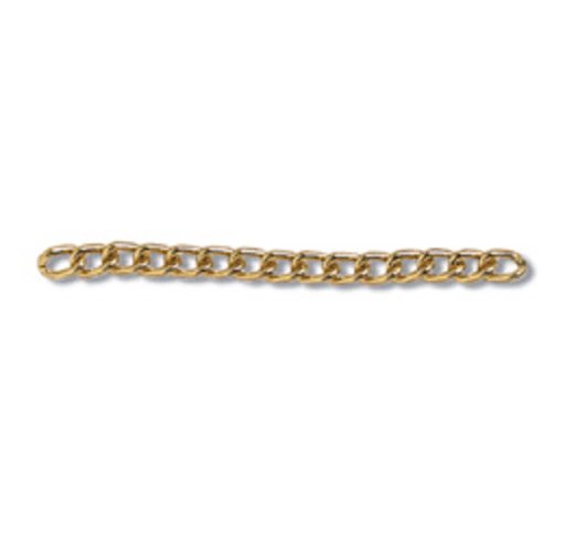 Aluminium Chain in Gold - 3mm - The Village Haberdashery
