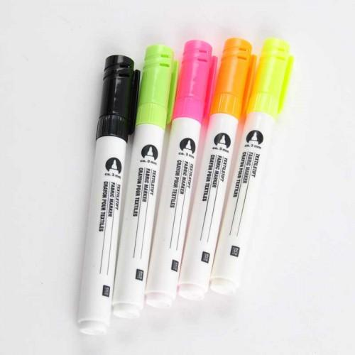 Fabric Marker Set - Neon - The Village Haberdashery