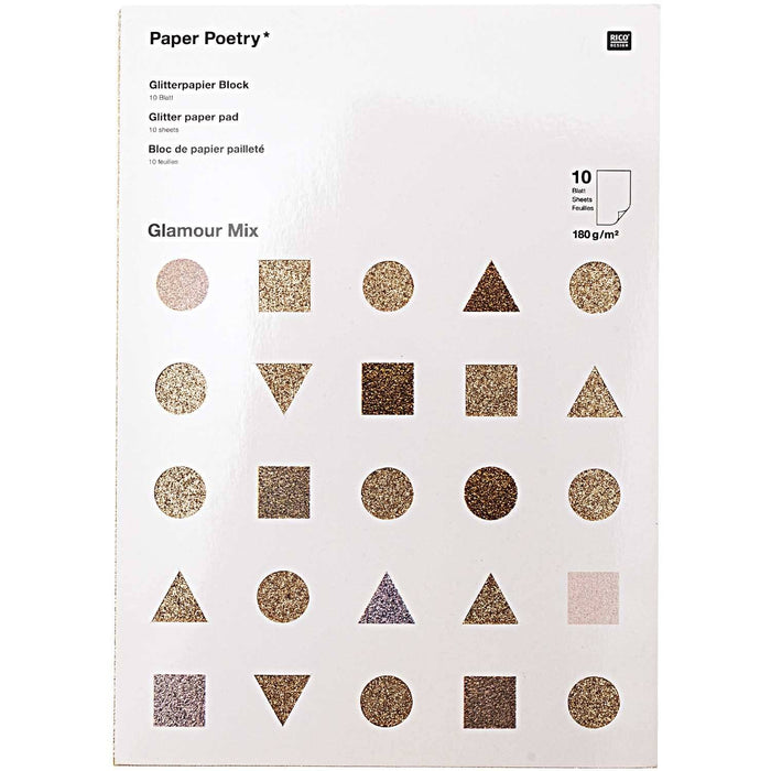 Glitter Paper Pad - Glamour Mix - The Village Haberdashery
