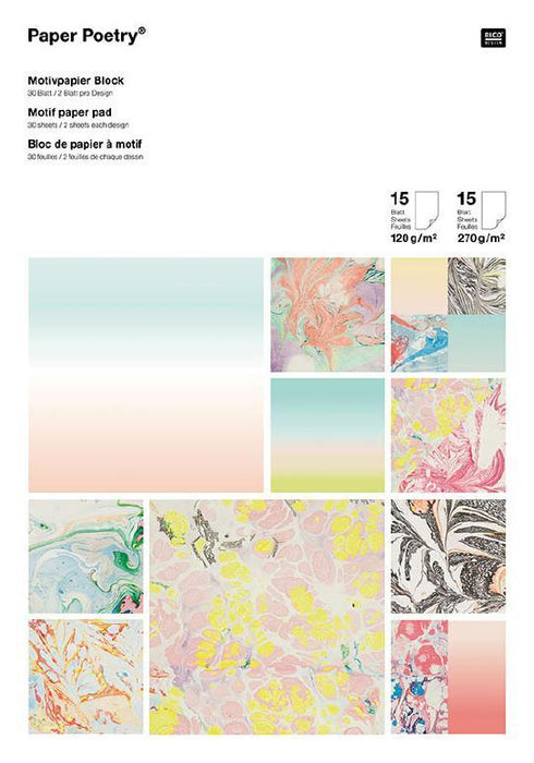 Paper Pad - Marbled - The Village Haberdashery