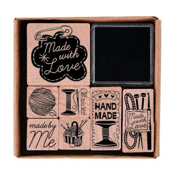 Stamp and Ink Set - Handmade - The Village Haberdashery