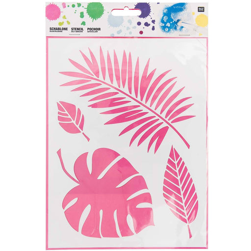 Stencil - Tropical Leaves - The Village Haberdashery