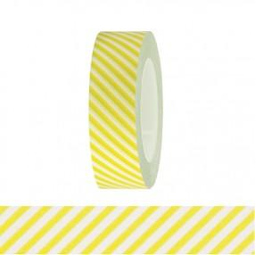 Washi Tape - White and Light Green Stripes - The Village Haberdashery