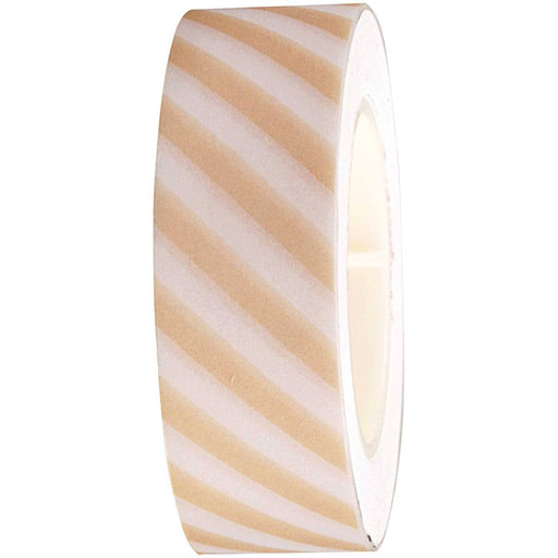 Washi Tape - White and Light Grey Stripes - The Village Haberdashery