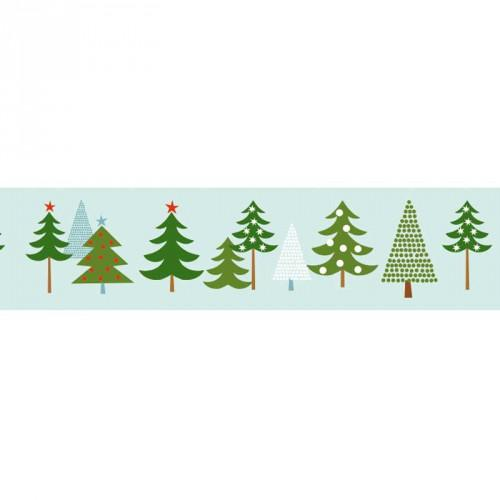 Washi Tape - Winter Forest - Fir Trees - The Village Haberdashery