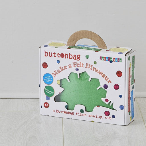 Buttonbag First Sewing Kit: Dinosaur - The Village Haberdashery