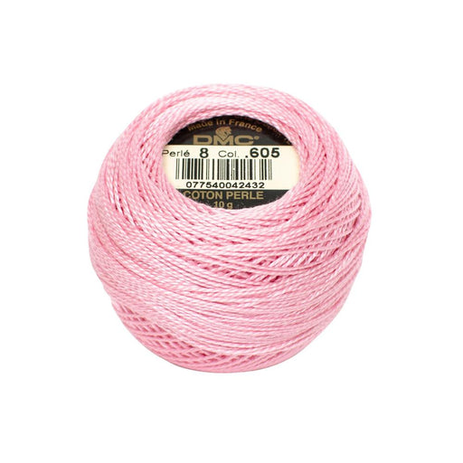 DMC Perle Cotton #8 - 605 - The Village Haberdashery