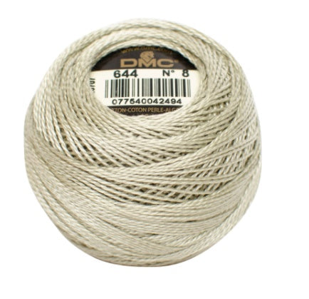 DMC Perle Cotton #8 - 644 - The Village Haberdashery