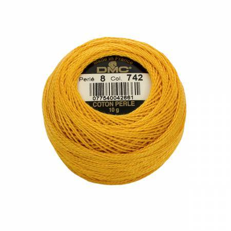 DMC Perle Cotton #8 - 742 - The Village Haberdashery