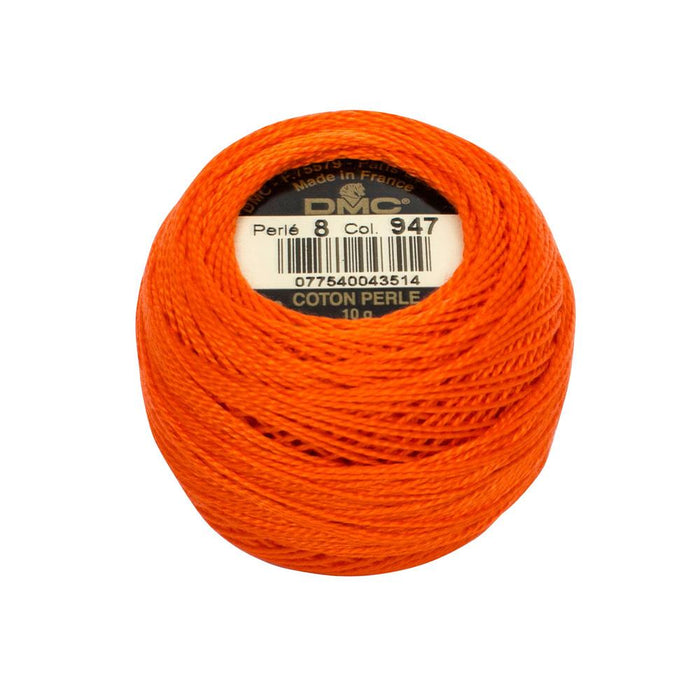 DMC Perle Cotton #8 - 947 - The Village Haberdashery