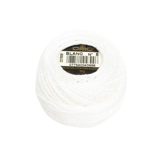 DMC Perle Cotton #8 - BLANC - The Village Haberdashery