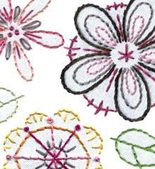 Sublime Stitching Embroidery Pattern - Fantasy Flowers - The Village Haberdashery