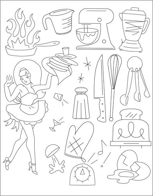Sublime Stitching Embroidery Pattern - Krazy Kitchen - The Village Haberdashery