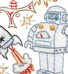 Sublime Stitching Embroidery Pattern - Spaced Out - The Village Haberdashery
