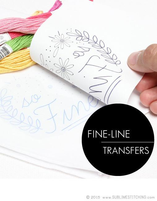 Sublime Stitching Fine Tip Iron-On Transfer Pen - Black - The Village Haberdashery