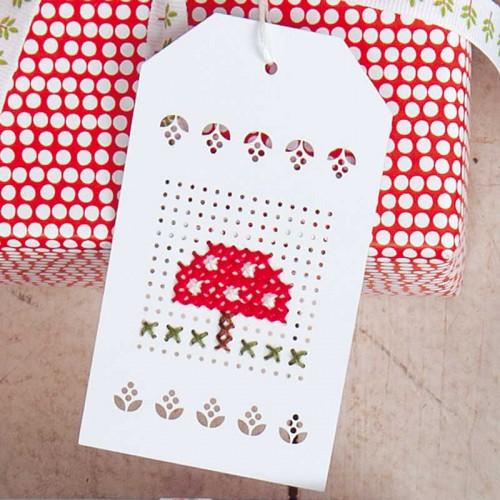 White Embroidery Gift Tags - The Village Haberdashery