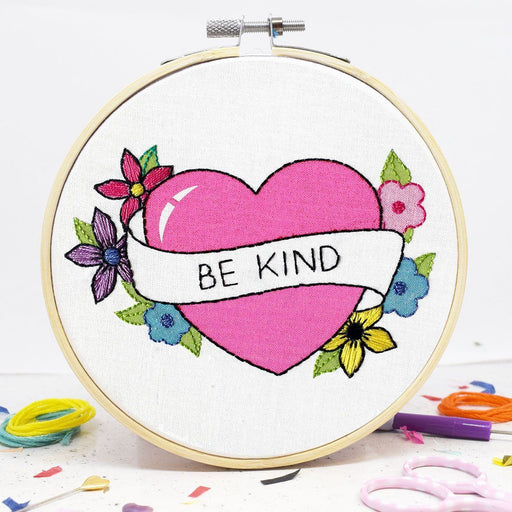 The Make Arcade Embroidery Kit - Be Kind - The Village Haberdashery