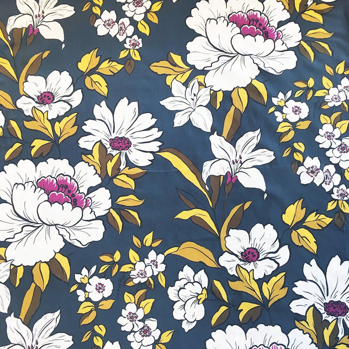 Cotton Lawn - Coleman Bouquet Blue - The Village Haberdashery