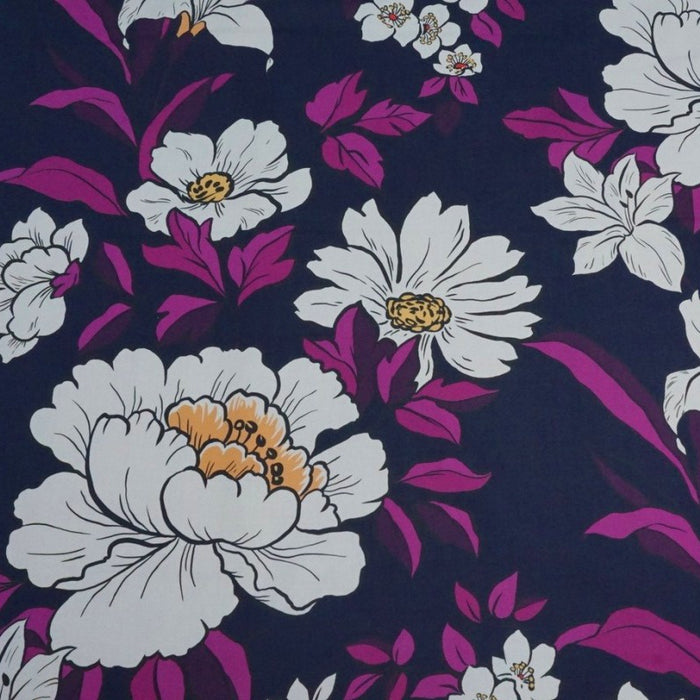 Cotton Lawn - Coleman Bouquet in Violet - The Village Haberdashery