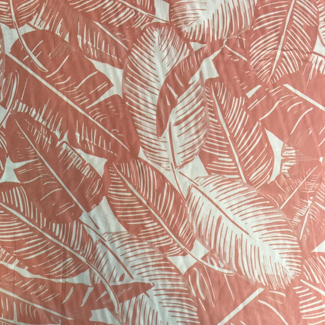 Cotton Lawn - Feather Palm in Blush - The Village Haberdashery