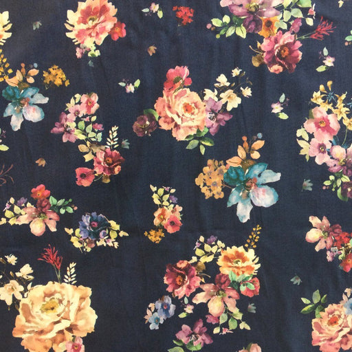 Cotton Lawn - Midnight Bouquet - The Village Haberdashery