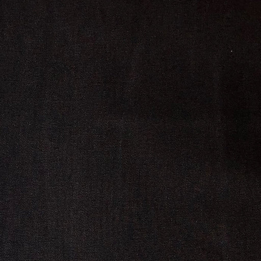 Cotton/Poly/Spandex Denim - Ultra Black - The Village Haberdashery