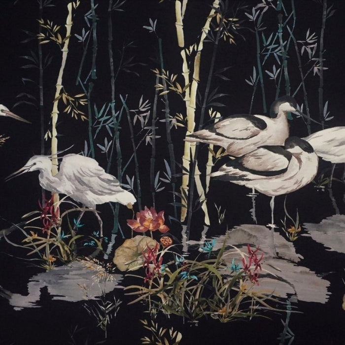 Crepe - Rushland Heron in Midnight - The Village Haberdashery
