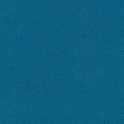 Kona Cotton Solids - Teal Blue - The Village Haberdashery