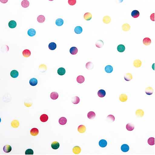 Metallic Dots on White - The Village Haberdashery