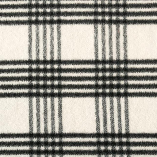 Wool Blend - Coating Check in Black and Cream - The Village Haberdashery