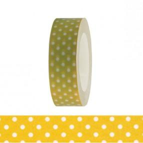 Washi Tape - Olive and White Dots - The Village Haberdashery