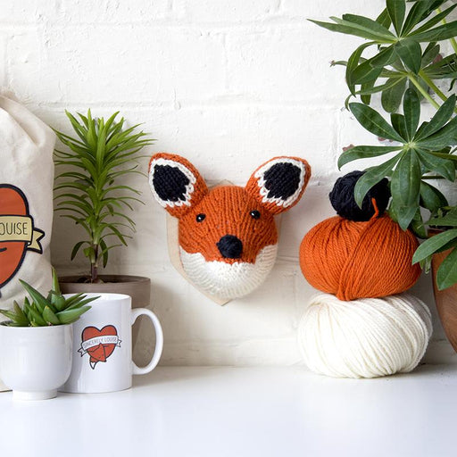 Sincerely Louise Mini Fox Head Knitting Kit - The Village Haberdashery