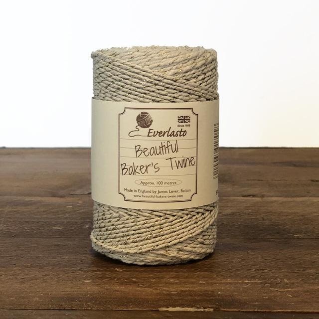 Everlasto Baker's Twine - Ivory Sparkle - The Village Haberdashery