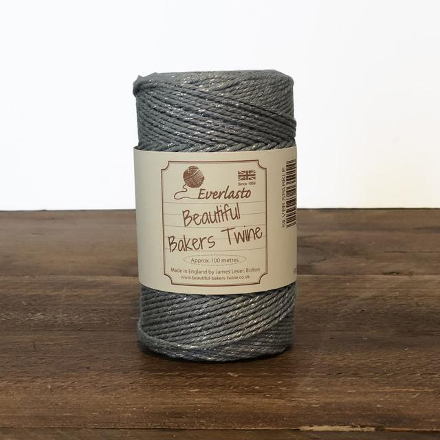 Everlasto Baker's Twine - Silver Sparkle - The Village Haberdashery