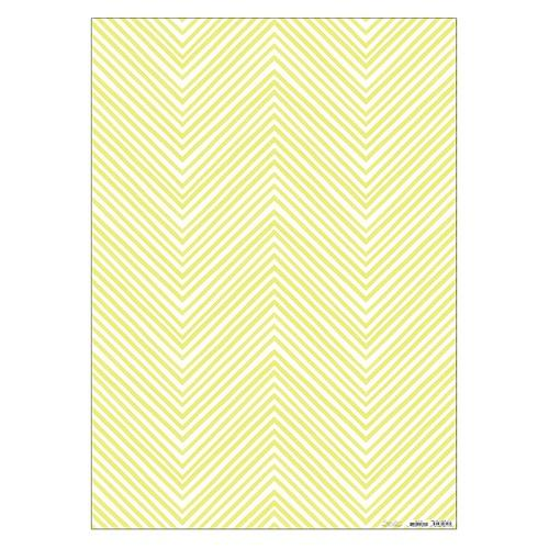 Gift Wrap - Yellow Neon Chevrons - The Village Haberdashery