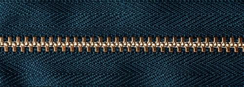 Brass Jeans Zip - Dark Navy - 15cm - The Village Haberdashery