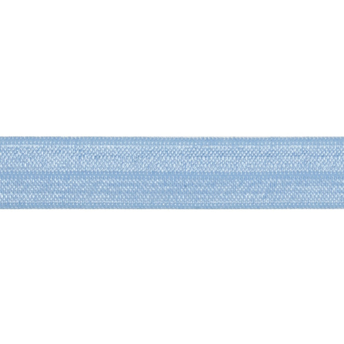 Fold Over Elastic - Cornflower Blue, 16mm - The Village Haberdashery